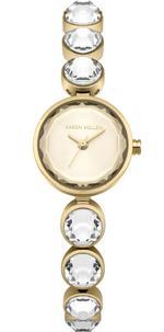 Karen Millen Gold Tone Faceted Stones Analog Watch - KM149GM