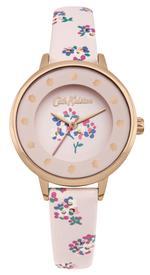 Cath Kidston Woodstock Ditsy Nude Pink Floral PU Strap Analog Watch - CKL040CRG