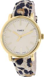 Timex Heritage Tiger Print Leather Strap Analog Watch - TW2P69800
