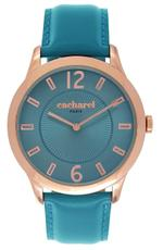 Cacharel Teal Green Leather Strap Analog Watch - CLD026/2JJ