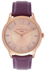 Cacharel Violet Leather Strap Analog Watch - CLD026/2TP
