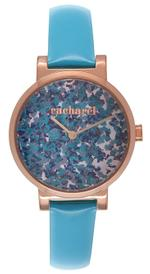 Cacharel Turquoise Blue Leather Strap Analog Watach - CLD028/2JJ