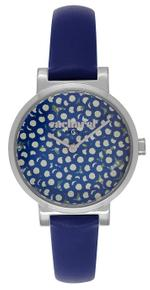 Cacharel Montre Femme Marine Cuir Blue Leather Strap Analog  Watch - CLD028/GG