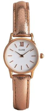 Cluse La Vedette Rose Gold Leather Strap Analog Watch - CL50020
