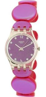 Swatch Lady Moving Pink Plastic Strap Analog Watch - LK357A