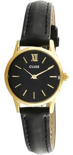 Cluse La Vedette Black Leather Strap Analog Watch - CL50012