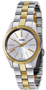 Rado HyperChrome Two Tone Silver Gold Links Analog Watch - R32975112