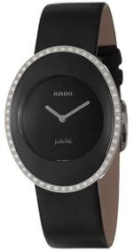 Rado Esenza Jubile Diamond Black Leather Strap Analog Watch - R53761155
