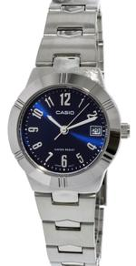 Casio Enticer Silver Tone Analog Watch - LTP1241D-2A2