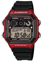 Casio Collection Black Resin Strap Digital Unisex Watch -AE-1300WH-4AVEF