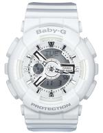 Casion Baby -G Alarm Chronograph White Resin Strap Analog Watch -BA-110-7A3ER