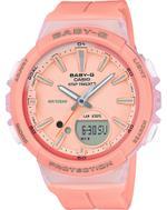 Casio Baby-G Step Tracker Pink Resin Strap Analog Watch - BGS-100-4AER