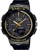 Casio Baby-G Step Tracker Black Resin Strap Analog Watch - BGS-100GS-1AER