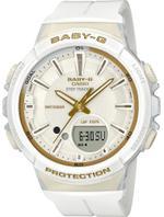 Casio Baby-G Step Tracker White Resin Strap Analog Watch - BGS-100GS-7AER