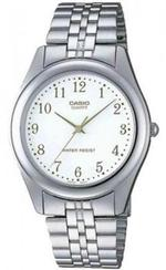 Casio Silver Tone Stainless Steel Analog Watch - LTP-1129A-7BE