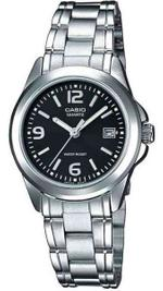 Casio Silver Tone Stainless Steel Analog Watch - LTP-1259D-1