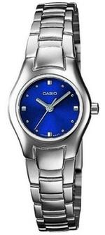 Casio Silver Tone Stainless Steel Analog Watch - LTP-1277D-2AE