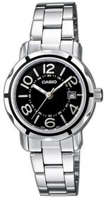 Casio Silver Tone Stainless Steel Analog Watch - LTP-1299D-1AEF