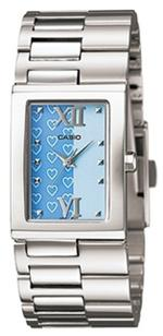 Casio Square Silver Stainless Steel Bracelet Analog Watch - LTP-1316D-2AEF
