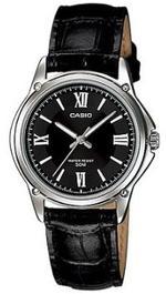 Casio Black Leather Strap Unisex Analog Watch - LTP-1382L-1AEF