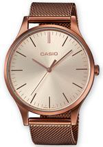 Casio Rose Gold Tone Mesh Strap Analog Watch - LTP-E140R-9AEF