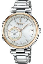Casio Sheen Silver Stainless Steel Analog Watch -SHB-100SG-7AER