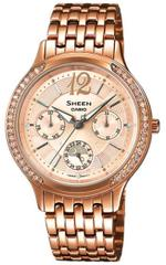 Casio Sheen Rose Gold Tone Stainless Steel Analog Watch -SHE-3030PG-9AUER