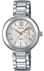 Casio Sheen Silver Stainless Steel Bracelet Analog Watch -SHE-3050D-7AUER