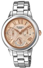 Casio Sheen Silver Stainless Steel Bracelet Analog Watch -SHE-3059D-9AUER