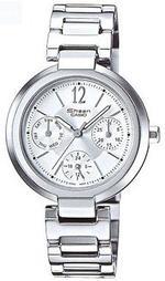 Casio Sheen Multi-Hand Silver Stainless Steel Analog Watch -SHN-3002D-7AEF