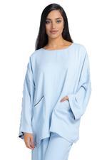 Miella Light Blue Seher Top  (TP009-BLU)