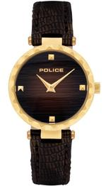 Police Qurem Brown Leather Strap Analog Watch -P 15570LSG-12