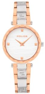 Police Qurem Silver Rose Gold Tone Analog Watch -P 15570LSTR-04M
