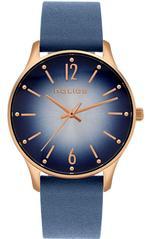 Police Makati Blue Leather Analog Watch -P 15574MSR-03