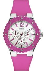 Guess Overdrive Pink Rubber Strap Analog Watch - W90084L2