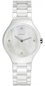 Rado Thinline White Ceramic Strap Analog Watch - R27958902