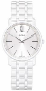 Rado Diamaster Roman Mini White Ceramic Strap Analog Watch - R14065017