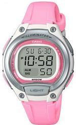 Casio Collection Pink Plastic Strap Digital Watch - LW-203-4AVEF