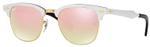 RayBan Icons Clubmaster Aluminium Unisex Sunglasses - RB3507-137/7O-49
