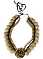 B-The Label Brown & Black Beaded Layered Necklace (B-03)