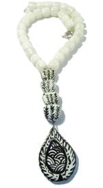 B-The Label White & Black Beaded Necklace (B-05)