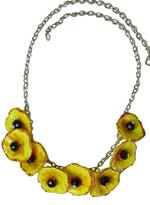 B-The Label Silver-Toned & Yellow Necklace (B-14)