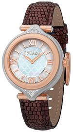 Escada Isabella Brown Leather Strap Analog Watch - D EW5130035