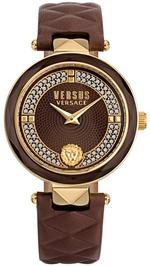 Versus Cov Gar Crys Brown Leather Strap Analog Watch - V WVSPCD2918