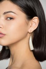 OwnTheLooks Cream Mini Tusk Drop Earrings (996B)