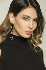 OwnTheLooks Silver Cut-Out Link Drop Earrings (114C)