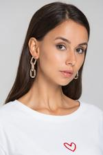 OwnTheLooks Gold-Toned Uneven Chain Drop Earrings (466B)