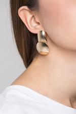 OwnTheLooks Gold-Toned Double Dome Button Earrings (482B)
