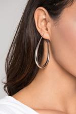 OwnTheLooks Silver-Toned U-Hoop Earrings (504B)