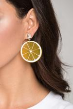 OwnTheLooks Orange Slice Drop Earrings (412B)